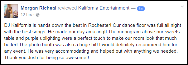 Rochester DJ Reviews | Deerfield Country Club Wedding