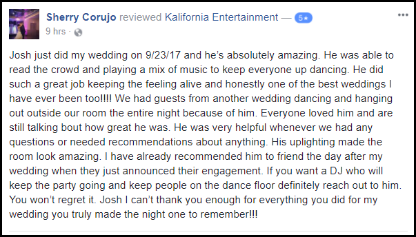 Rochester DJ Reviews | Burgundy Basin Weddings