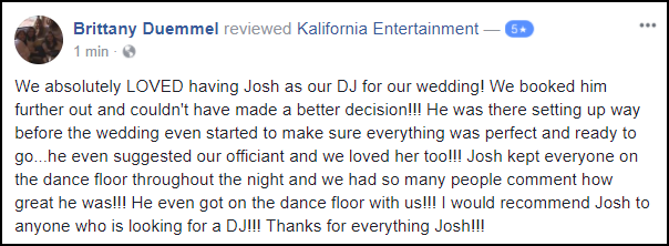 Rochester DJ Reviews | Burgundy Basin Weddings