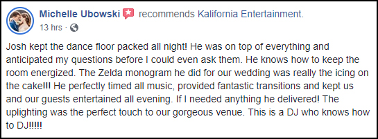 5 Star Wedding DJ Review | Rochester DJ