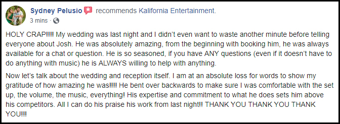 Another Pelusio Wedding | 5 Star Review | Rochester DJ