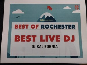 DJ Kalifornia - Best of Rochester winner as Best Rochester DJ