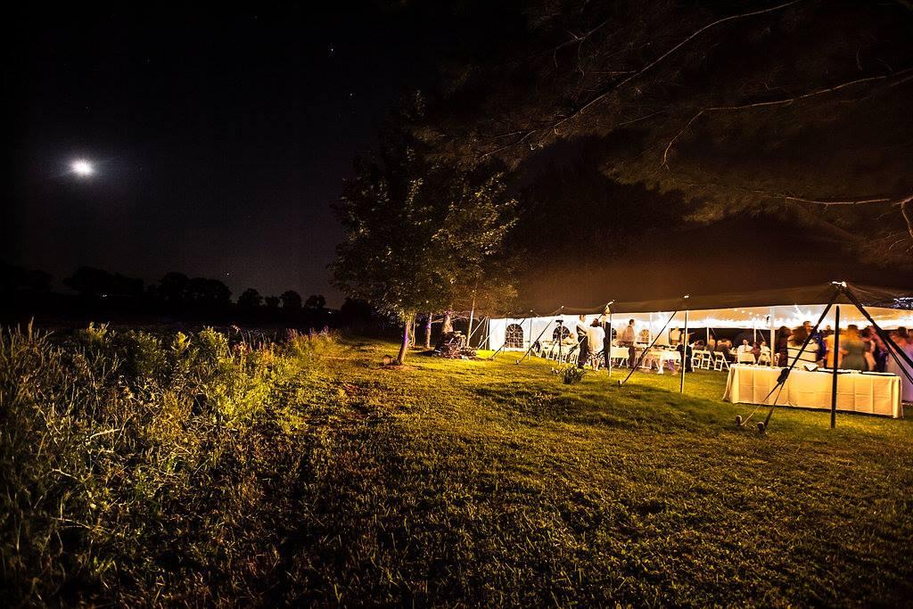 Backyard Tent Wedding Reception in Rochester, NY