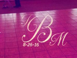 Rochester DJ   Shadow Lake Golf Weddings   Custom Floor Monogram