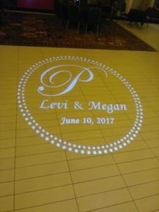 Pascher Wedding   Rochester DJ   Artisanworks Weddings   Custom Floor Monogram