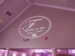 Fredericks Wedding   Cobblestone Creek Country Club   Rochester DJ   Custom Wall Monogram