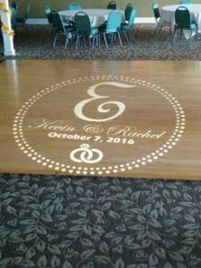 Rochester DJ   Webster Golf Weddings   Custom Floor Monogram