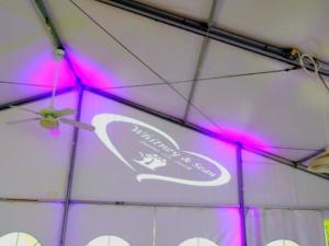 Rochester DJ | Shadow Lake Wedding | Custom Tent Monogram