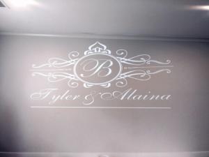 Rochester DJ   Deerfield Country Club Wedding   Custom Wall Monogram