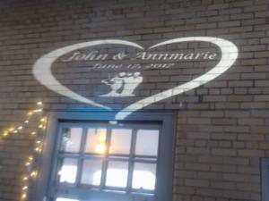 Rochester DJ   Roger Robach Weddings   Custom Wall Monogram