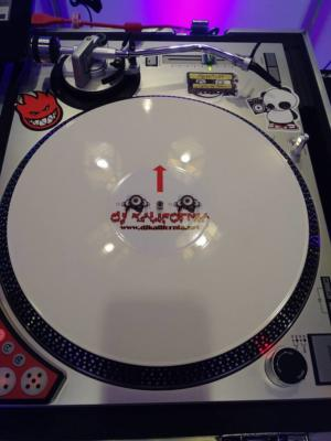 Custom white turntable set up | Rochester DJ | Rochester Wedding and Event Entertainment