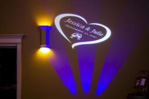 Rochester DJ   Casa Larga Weddings   Custom LGBQT Wedding Monogram