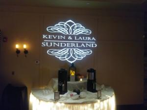 Sunderland wedding | Rochester DJ | Ravenwood Country Club | Custom Wall Monogram