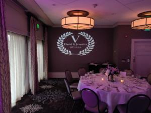 Vistocco Wedding | Woodcliff Hotel & Spa | Rochester DJ | Custom Wall Monogram