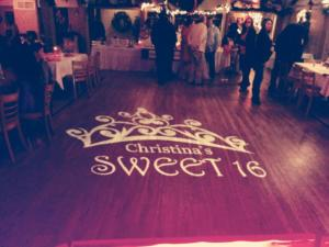 Christinas Sweet 16   Rochester NY Sweet 16 DJ   Custom Floor Monogram