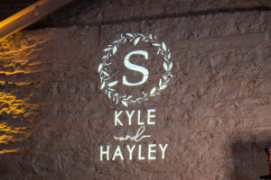 Spellman Wedding | La Luna High Falls | Rochester DJ | Custom Wall Monogram