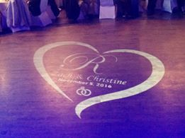 Rochester DJ   La Luna Weddings   Custom Floor Monogram