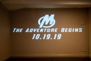 McCarthy Wedding | Burgundy Basin | Rochester DJ | Custom Animated Marvel Avengers Monogram