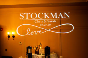 Stockman Wedding | Rochester DJ | Ravenwood Golf and Country Club | Custom Wall Monogram