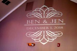 Bengtson Wedding | Rochester DJ | Cobblestone Creek Country Club | Custom Wall Monogram