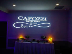 Capozzi Wedding | Rochester Wedding DJ | Deerfield Country Club | Custom Wall Monogram