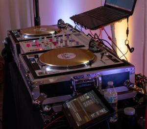 Arbor Loft Wedding Reception | Custom  turntable set up | Rochester DJ | Rochester Wedding and Event Entertainment