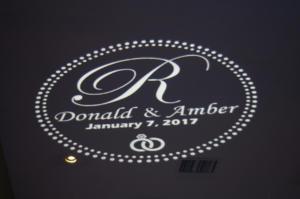 Rochester DJ   Glendoveers Wedding   Custom Monogram